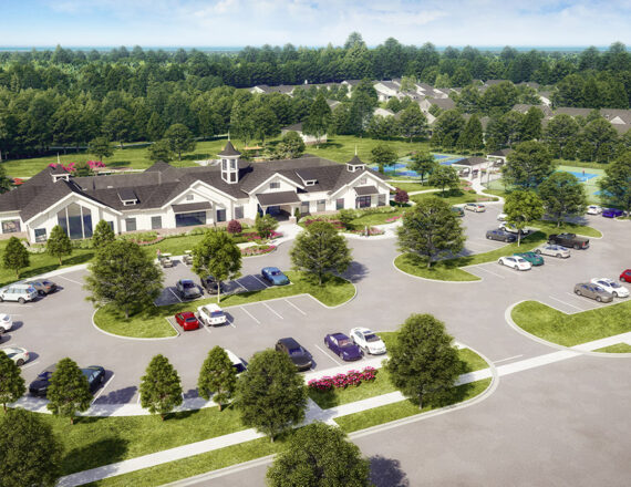 Clubhouse 3D rendering