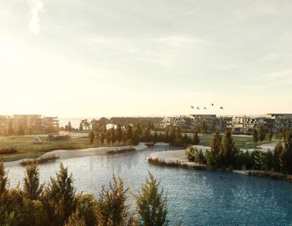 Bluegolf aerial 3D rendering