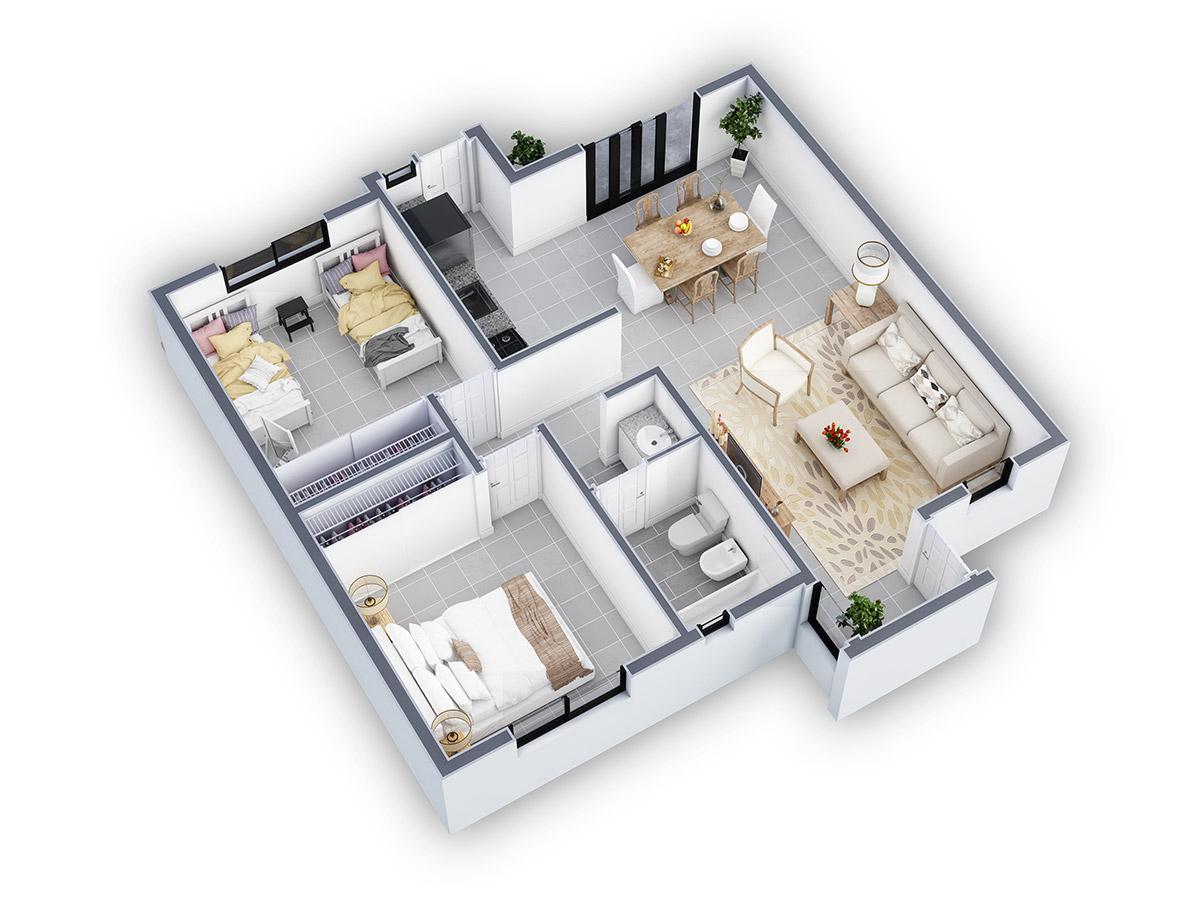 Duplex X4 3D rendering