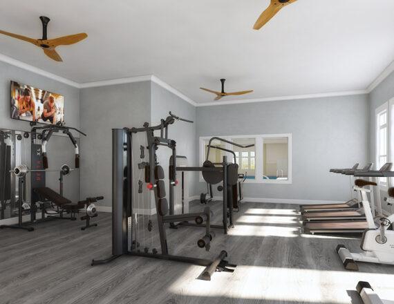 Gym 3D rendering