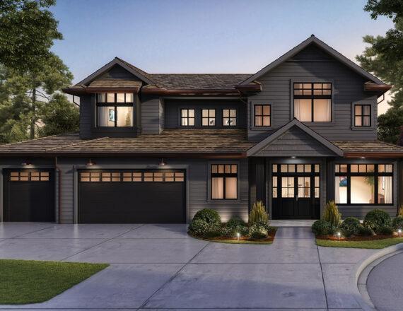 Single house 3D rendering