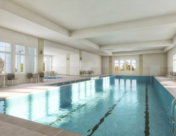 Indoor Pool 3D rendering