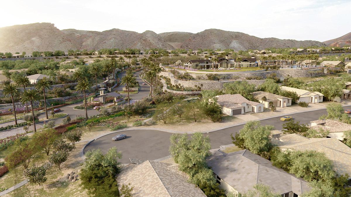 Las Vegas Lake aerial 3D rendering
