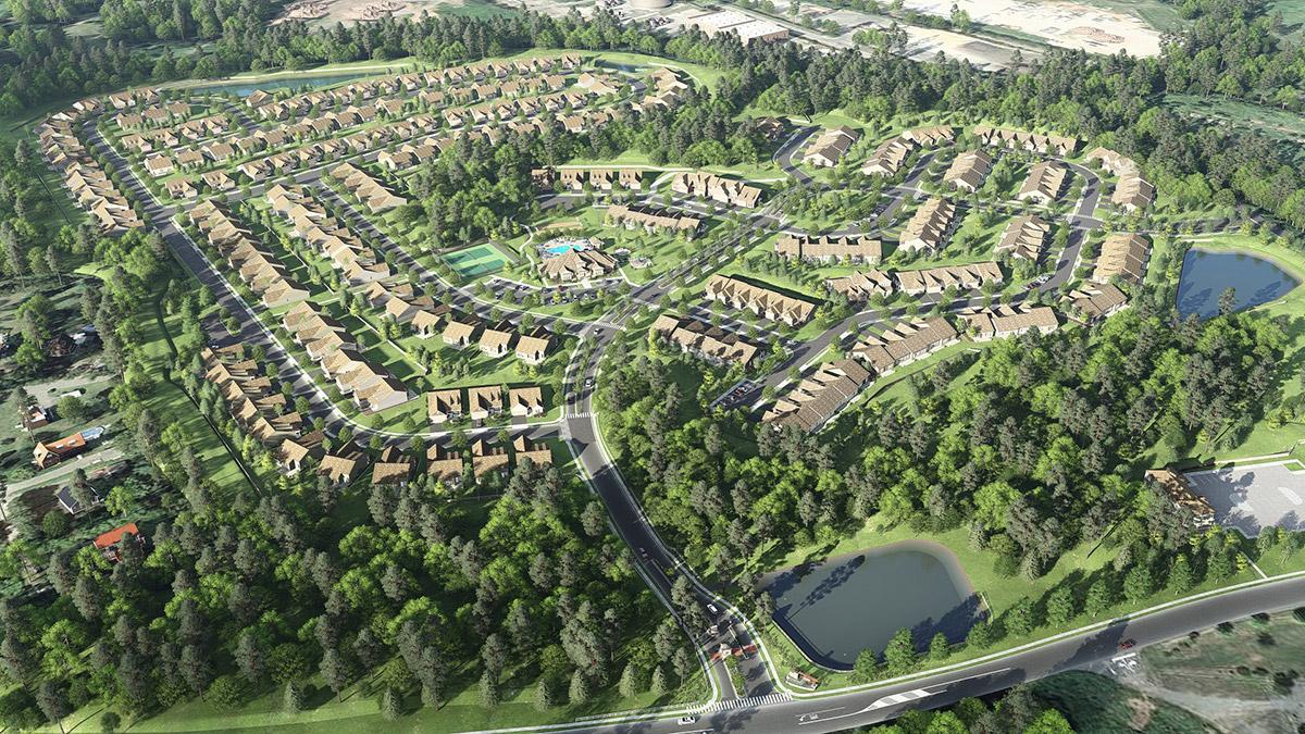 HUNTERDON aerial 3D rendering