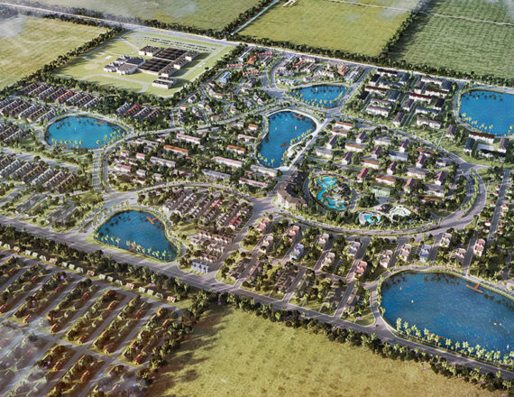 Richland Comunities aerial 3D rendering