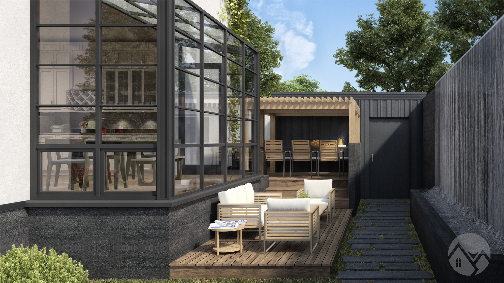 modern style house rendering